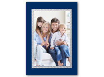 Sterling Frame Vertical  Christmas Photo Card