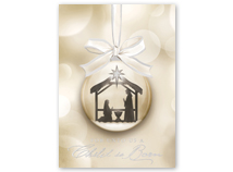Ornamental Nativity Religious Holiday Cards